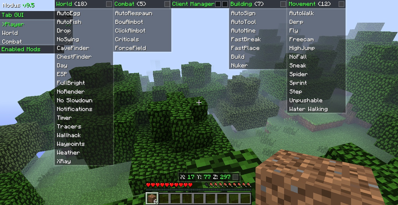 Популярный Nodus для Minecraft 1.6.4